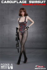 "1/6th Fire Girl Toys FG068A Camo Swimsuit Seamless Stockings F 12""Action Figure"