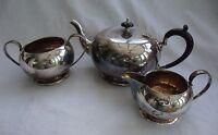 ANTIQUE / VINTAGE EPNS UNITY SILVER PLATE TEAPOT SET TEA POT MILK JUG SUGAR BOWL