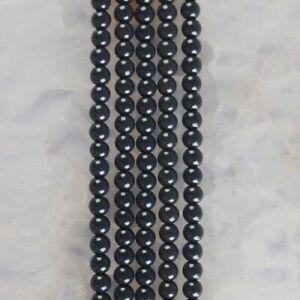 "HP1267-b 4mm Baked Porcelain Glass Ball Loose beads 16"""