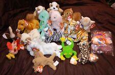 Vintage Beanie Babies Lot Retired Rare Multicolor Toys Collectors Rabbit Camel