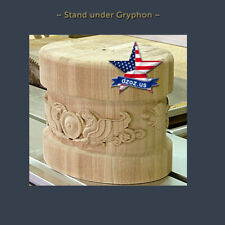 Stand under Gryphon for stairs Wood Carved 3D statue sculpture figure decor art
