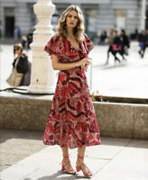 Johanna Ortiz H&M Ruffles Dress New Broderie Eyelet Embroidery