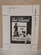Vintage COCA-COLA PHOTO from COLA CALL Vintage Red Barrel Buy War Bonds