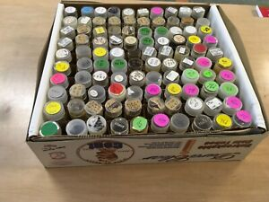 100 Gently Used Round Coin Tubes for Pennies/Cents in Original Box