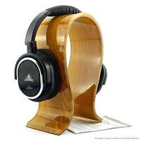 Acrylic Wood Universal Headphone HANGER, Earphone Desk Stand Holder Display Rack