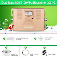 3G 4G Dual Band 800/2100MHz Mobile Signal Booster Cell Phone Signal repeater