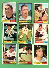 1961 Topps Baseball CLEVELAND INDIANS Near Team Set Lot