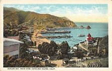 Catalina Island Avalon Bay Main View c1925 Postcard