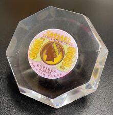 $1000 Caesars Lake Tahoe Nevada Gaming Chip Set In Acrylic Diamond Paperweight