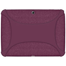 Amzer Soft Rubber Skin Fit Case Cover for Samsung Galaxy Tab 3 10.1 - Purple