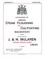 McClaren Steam Ploughing Machinery Catalogue 1908