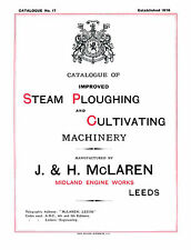 McClaren Steam Ploughing Machinery Catalogue 1908