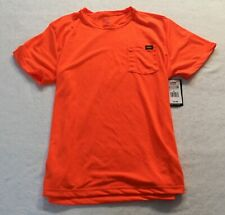 Dickies Men's Short Sleeve Relaxed Fit Pocket Tee SV3 Neon Orange Size XL NWT