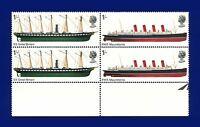 1969 SG782-783 1s Ships Marginal Block (4) MNH Unmounted Mint aswd
