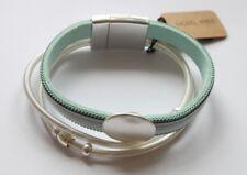 Armband Damen Leder Bänder Magnetverschluss NEU türkis  Metall