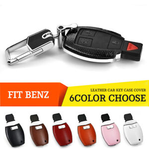 Leather Car Key Case Cover for Mercedes Benz C E G S M GL CLS CLK G Class AMG
