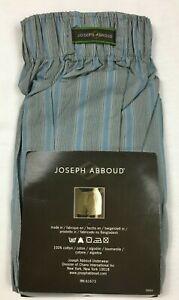 Joseph Abboud Men's Boxer Shorts Size S (28-30) *1 Pair* Gray/Blue Stripes NIP
