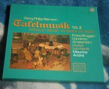 TELEMANN TAFELMUSIC TEIL II GERMANY 2LP TELEFUNKEN TK 11548/1-2, BRUGGEN, ANDRE
