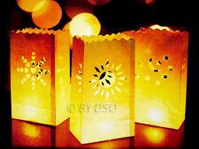 GardenKraft 5 x Candle Lantern Bags Wedding, Haloween and Garden Light