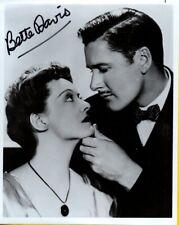D-BETTE DAVIS Autograph B& W Photo W/COA