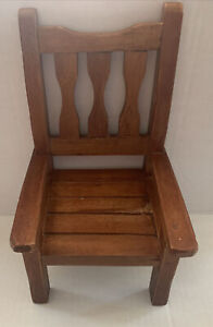 Pottery Barn Wooden Mini Chair Hanging Wall Decor / Doll Furniture