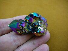(R1-79) iridescent Aurora Crystal quartz titanium GEM gemstone Aura specimen