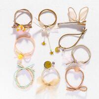 9pcs/Set Korean Women Ponytail Holder Hair Ties Hair Clip Suit Hair Ropes Gifts~