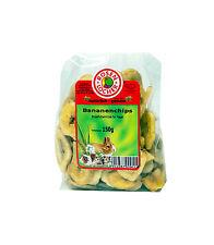 Rosenlöcher Bananenchips 150g getrocknete Bananen Chips für Nager gesunder Snack