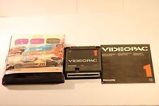 VINTAGE PHILIPS g7000 console COMPUTER VIDEOPAC 1 RACE SPIN-OUT Game 1978