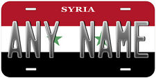 Syria Flag Any Name Personalized Novelty Car License Plate
