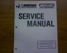 1984-85 Mariner TM, DM & RC ELECTRIC outboard motor WORKSHOP  REPAIR MANUAL