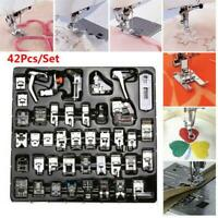42 pcs Domestic Sewing Machine Foot Feet Presser Snap For Brother Singer Set Kit