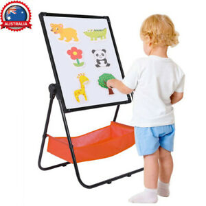 Kids Art Easel Whiteboard Blackboard Chalkboard Double Sided Stand B