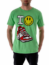 Local Celebrity T-Shirt Green Happy Shoes Crew Neck short Sleeve