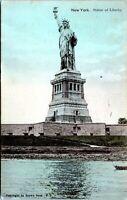 1907 Statue Of Liberty Brown Bros. Higganum Postmark New York City Postcard AU