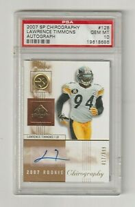 2007 UD SP CHIROGRAPHY Lawrence Timmons RC AUTO *PSA 10* S/N 017/699 Steelers