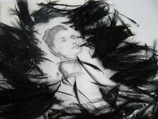Vintage schwarze Federn Reiherfedern Hobby Gothik Basteln Hutmacherei
