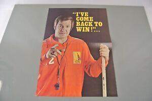Vancouver Blazers 1974-1975 Promo Poster Joe Crozier Hockey WHA