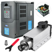 4KW Air Cooled Spindle Motor + 4KW VFD for CNC Router Engraving Milling Machine