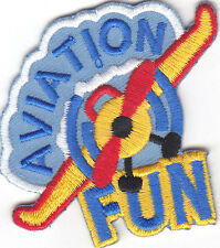 """AVIATION FUN"" IRON ON PATCH- Iron On Applique /Aircraft, Transportation, Planes"