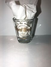 """Hard Rock Cafe Dallas Shot Glass """"Save the Planet"""" Gold Printing"""