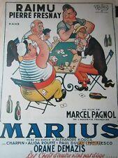 """Affiche RAIMU """" la partie de cartes """"  .DUBOUT - PAGNOL"""