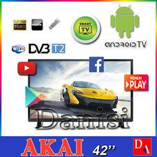 "AKAI Televisore SMART TV 42"" POLLICI FullHD DVB-T2 ANDROID WI-FI USB HDMI"
