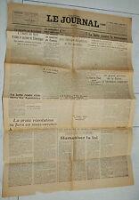 LE JOURNAL 15 NOVEMBRE 1943 GUERRE FRONT EST KIEV LUTTE CONTRE LE TERRORISME