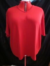 Women's Plus Size - Lightweight Red V-Neck Pullover Top - Jacque & KoKo