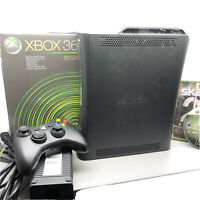 Microsoft Xbox 360 120GB HDD Console Black Lot W/ 2 Games Bundle Skate Fallout