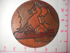 US Bomber Squad Horse Riding Bomb Hand Made Vintage Leather Patch  b-1