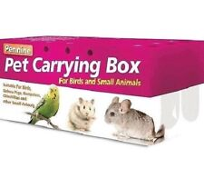 PET CARRYING BOX - (small / large) - Cardboard Carry Case bp Bird Animal Hamster