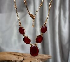 UNIQUE CHERRY BALTIC AMBER NECKLACE 925 STERLING SILVER PLATED GOLD PENDANT