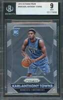Karl-Anthony Towns Rookie Card 2015-16 Panini Prizm #328 Timberwolves BGS 9